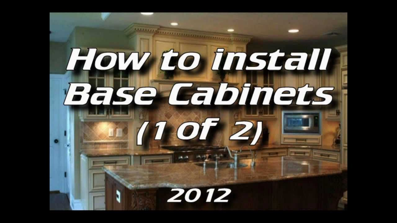 Best How To Install Kitchen Cabinets Installing Base Cabinets 400 x 300