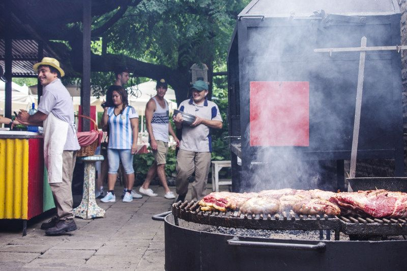 Argentinians loves their meat, grill grill grill everywhere!