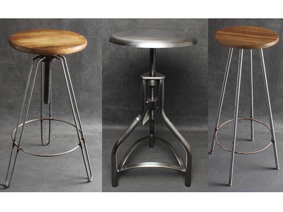 Amazing Industrial Metal Wooden Bar Stools Seats Swivel Hairpin Inzonedesignstudio Interior Chair Design Inzonedesignstudiocom