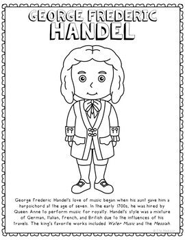 George Frederic Handel Famous Composer Informational Text