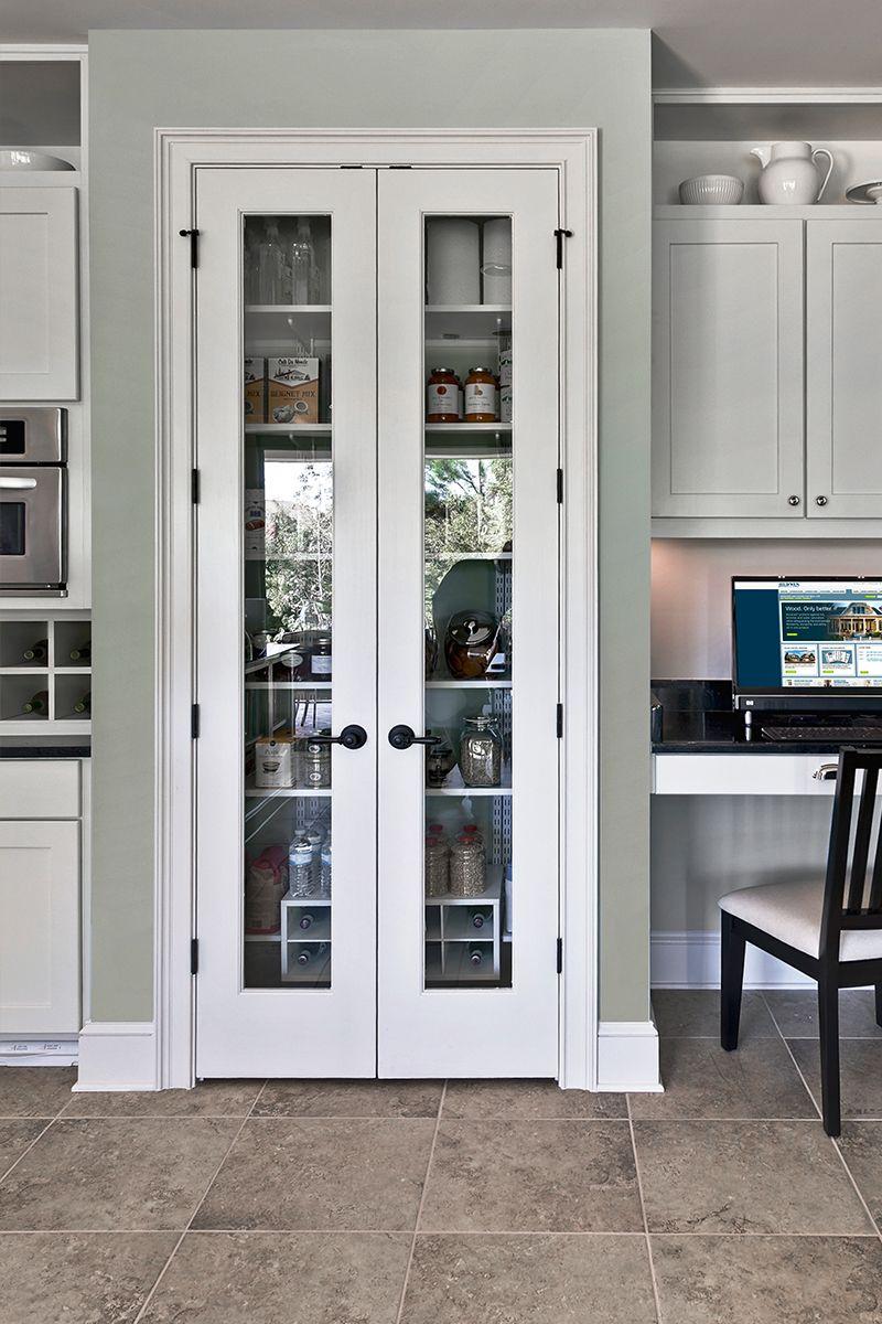 Panes Of Glass In Interior Doors Can Create A Modern Sleek Look In Any Room Modern Pantry Kitchen Pantry Doors Pantry Design