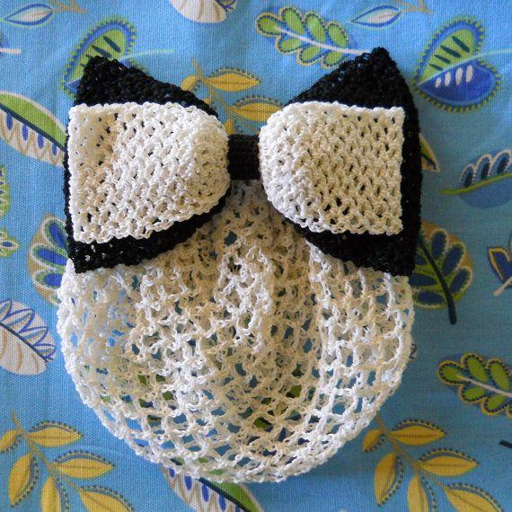 Vintage Crochet Bow Snood Pattern | Bollos, Moños y Adornos