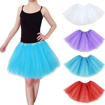 0589589fb2 1 X Teens Girl Tutu Ballet Skirt Tulle Costume Fairy Party Hens Nigh RDFJ