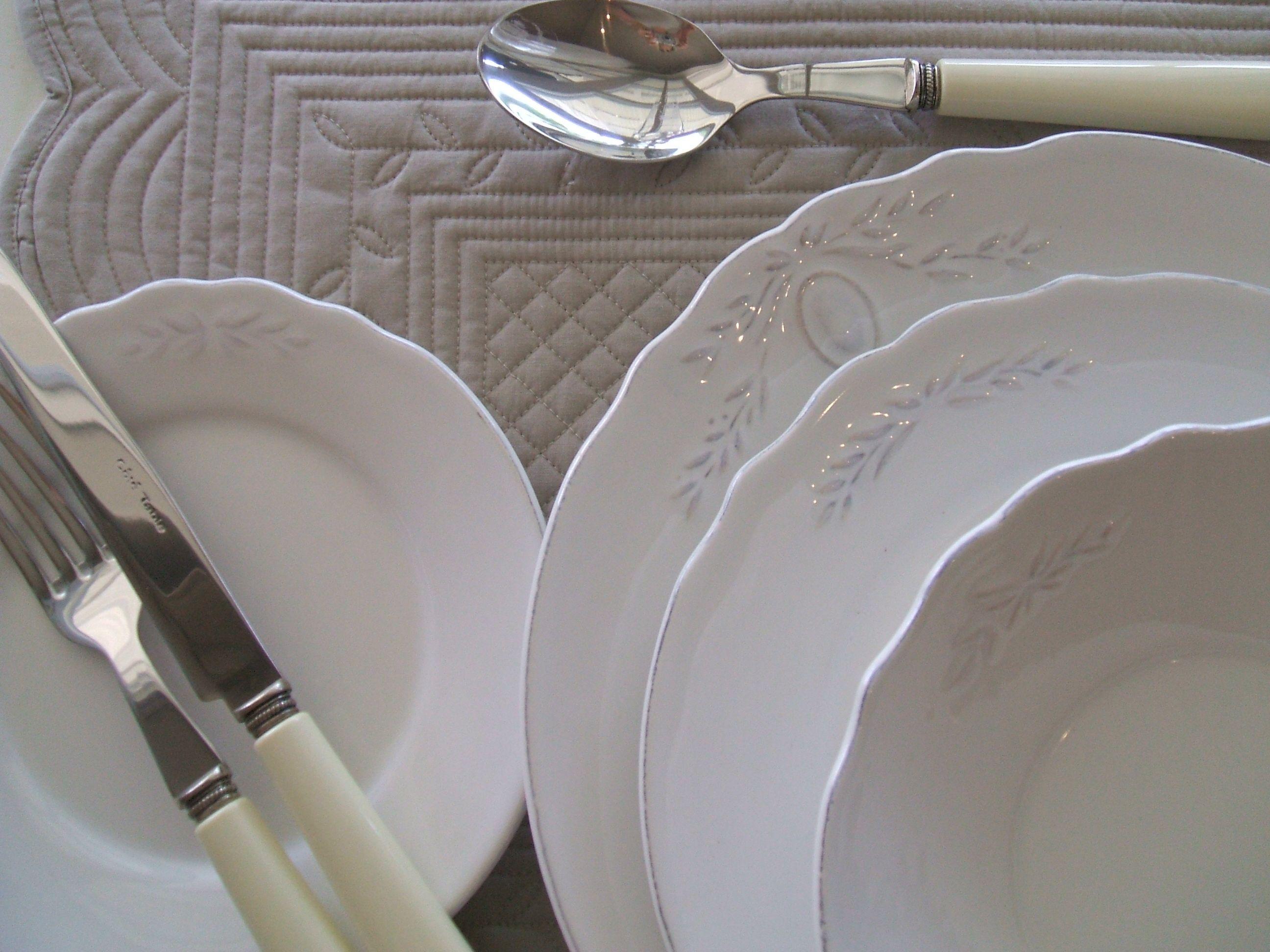 Classic French White Dinnerware