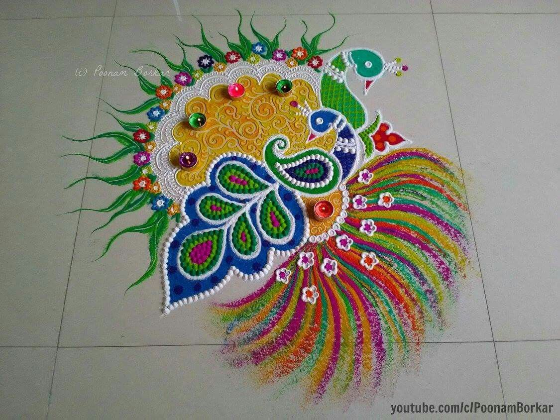 Top 10 North Indian Rangoli Designs To Try In 2019 pics
