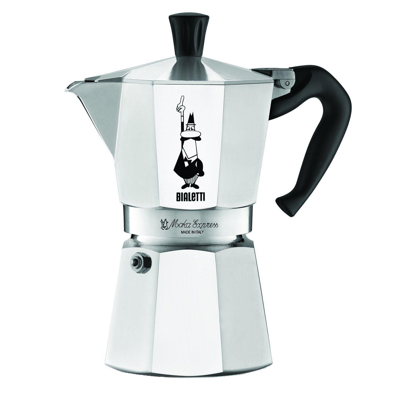 Amazon.com: Bialetti 6800 Moka Express 6-Cup Stovetop Espresso Maker: Stovetop Espresso Pots: Home & Kitchen