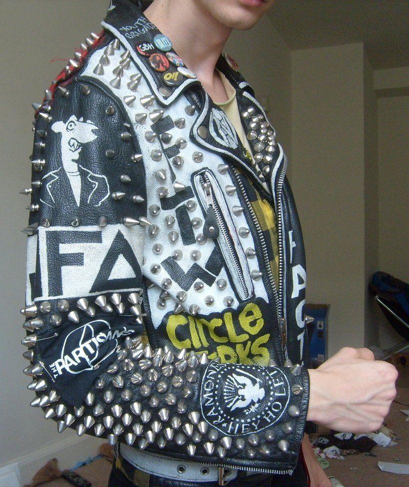Leather jacket punk - Studded Jacket Google Search