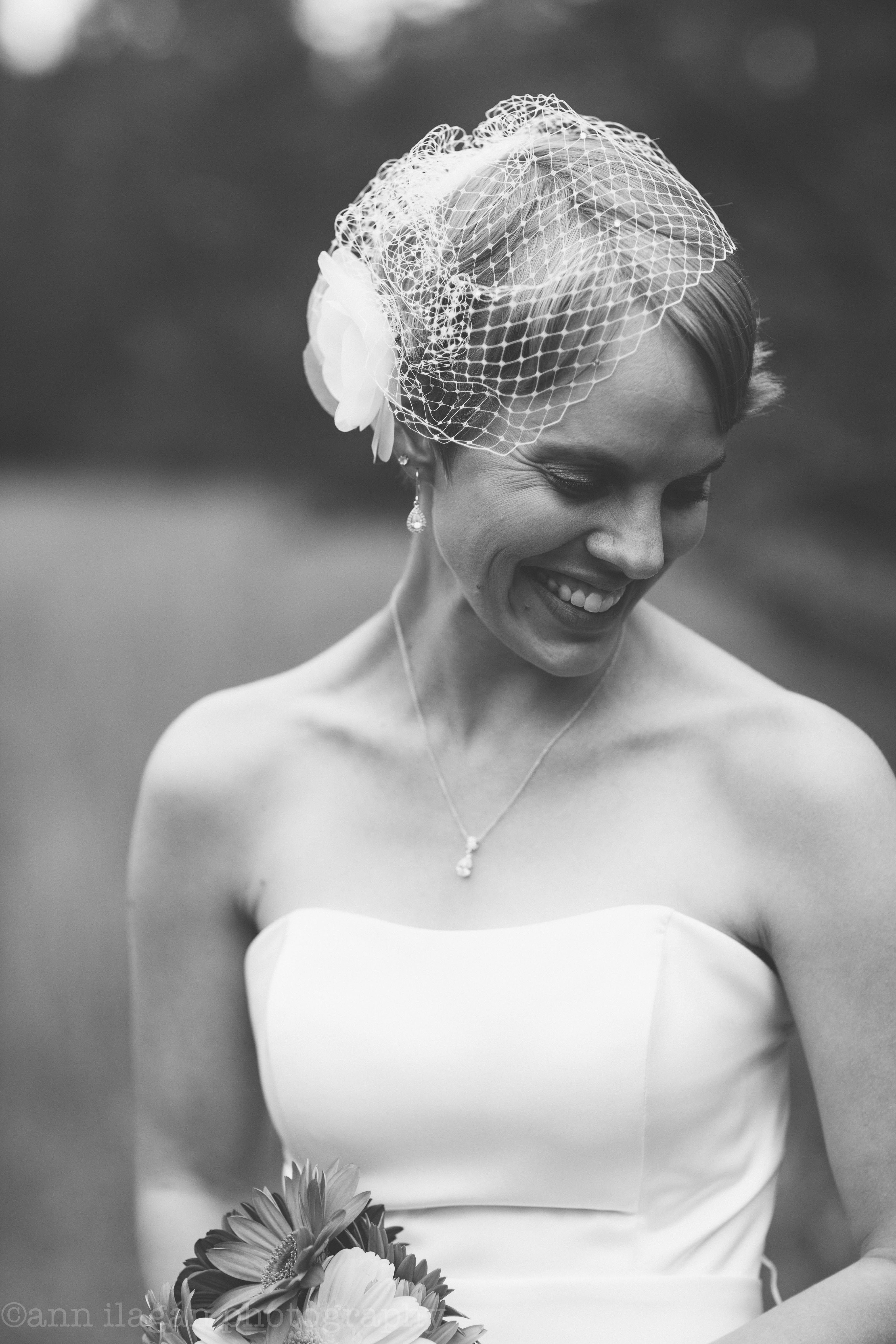 Brides with Bird cage veil | short hairstyle | Wisconsin weddings ...