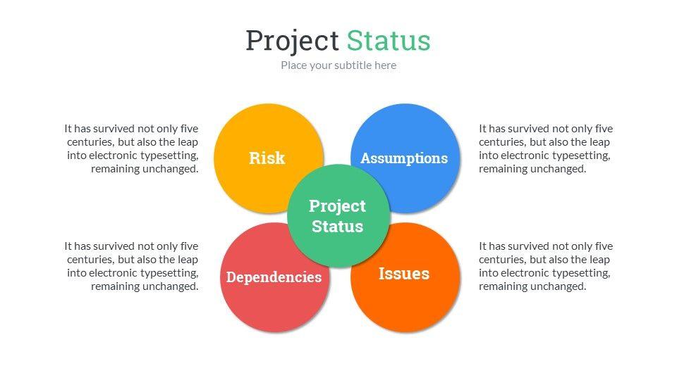project status powerpoint presentation template | ppt | pinterest, Presentation templates