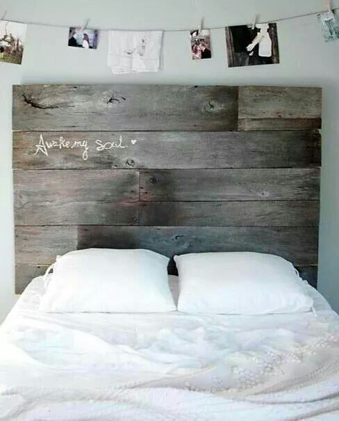 DIY - Salvaged Barn Wood Headboard - Love this idea. even the photo\u0027s above! You can add new messages on the headboard and can change the pics around. & I can\u0027t stop so obsessed | nifty | Pinterest | Wood head boards ...