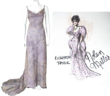 Nolan Miller Designed Sequined Gown for Elizabeth Taylor
