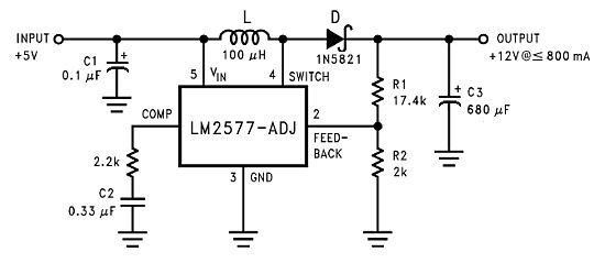 5v To 12v Step Up Voltage Regulator Circuit Diagram Voltage Regulator Circuit