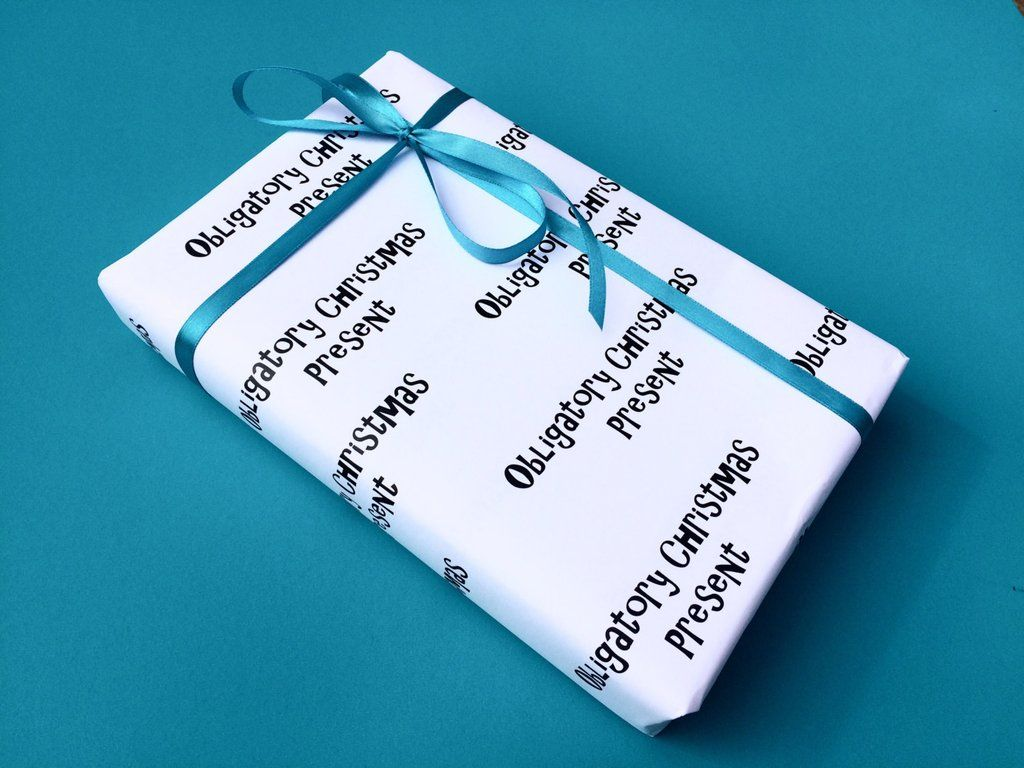 Obligatory Christmas wrapping paper, funny gift wrap, novelty ...