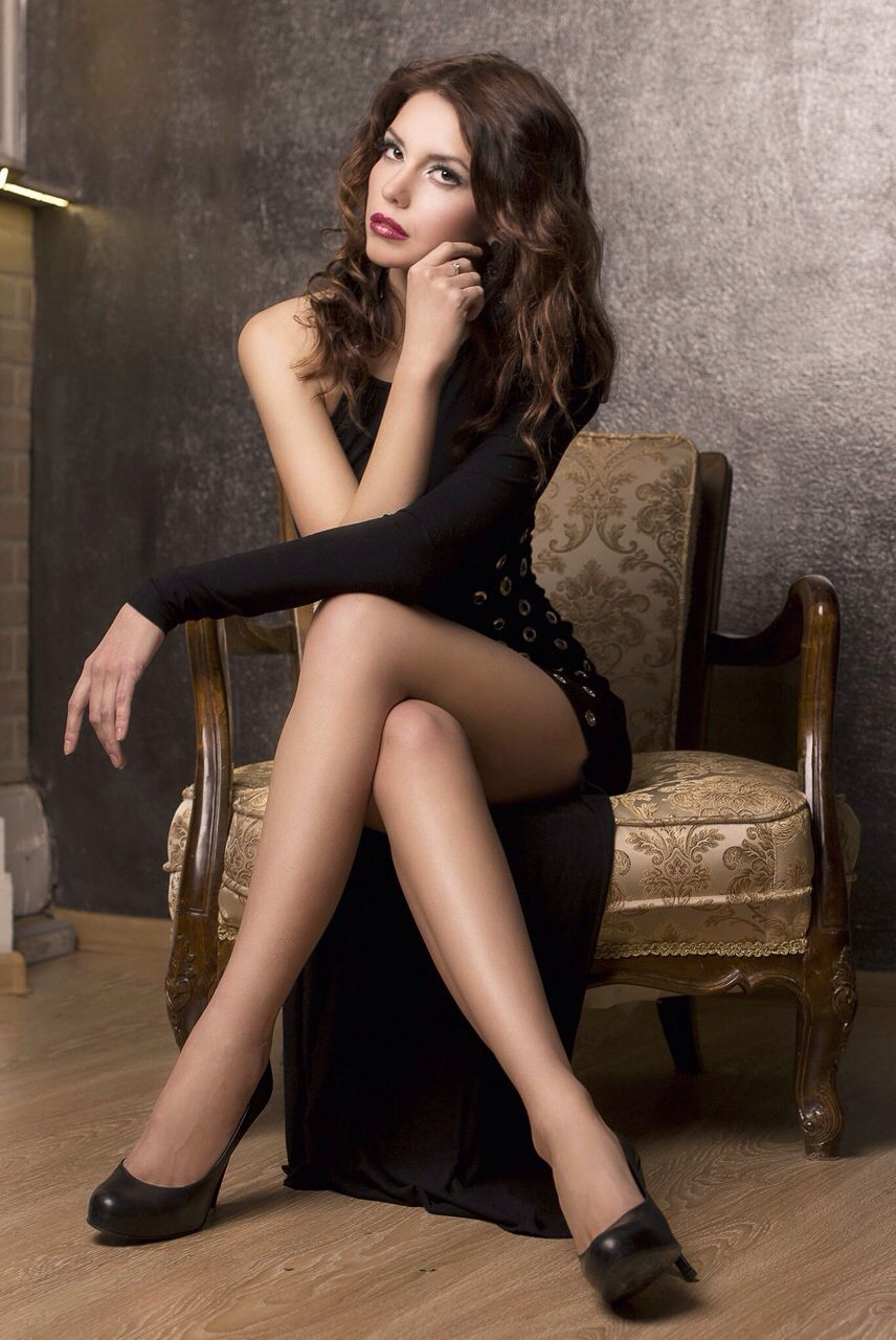 Maxi dress zwart met split squat