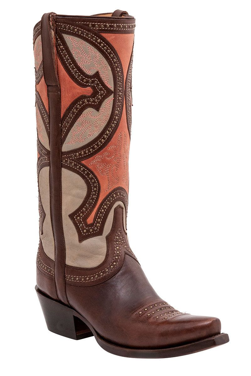 Lucchese Leila Women's Brown Cowgirl Boots HeadWest