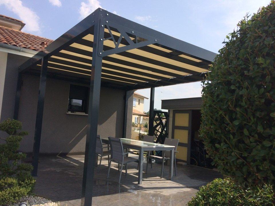 Pergola aluminium sur-mesure en kit prête à poser - Metablok #pergola  #architecture - Pergola Aluminium Sur-mesure En Kit Prête à Poser - Metablok