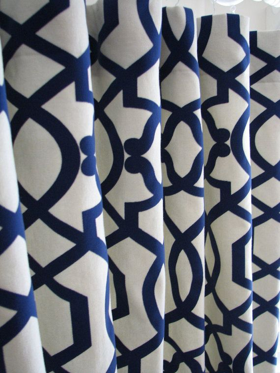 Curtains 295 Navy Blue And White For The Home