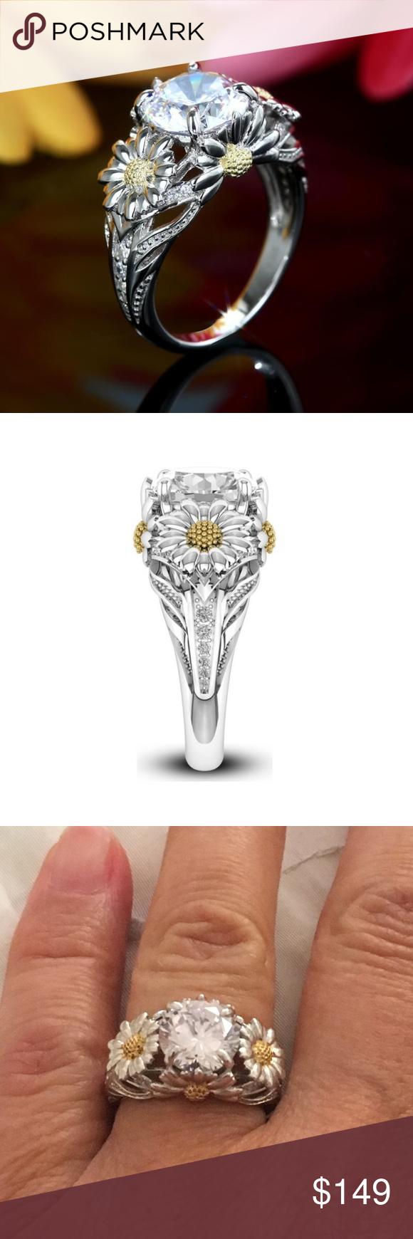 Vancaro Sterling silver Sunflower Ring Vancaro Sunflower