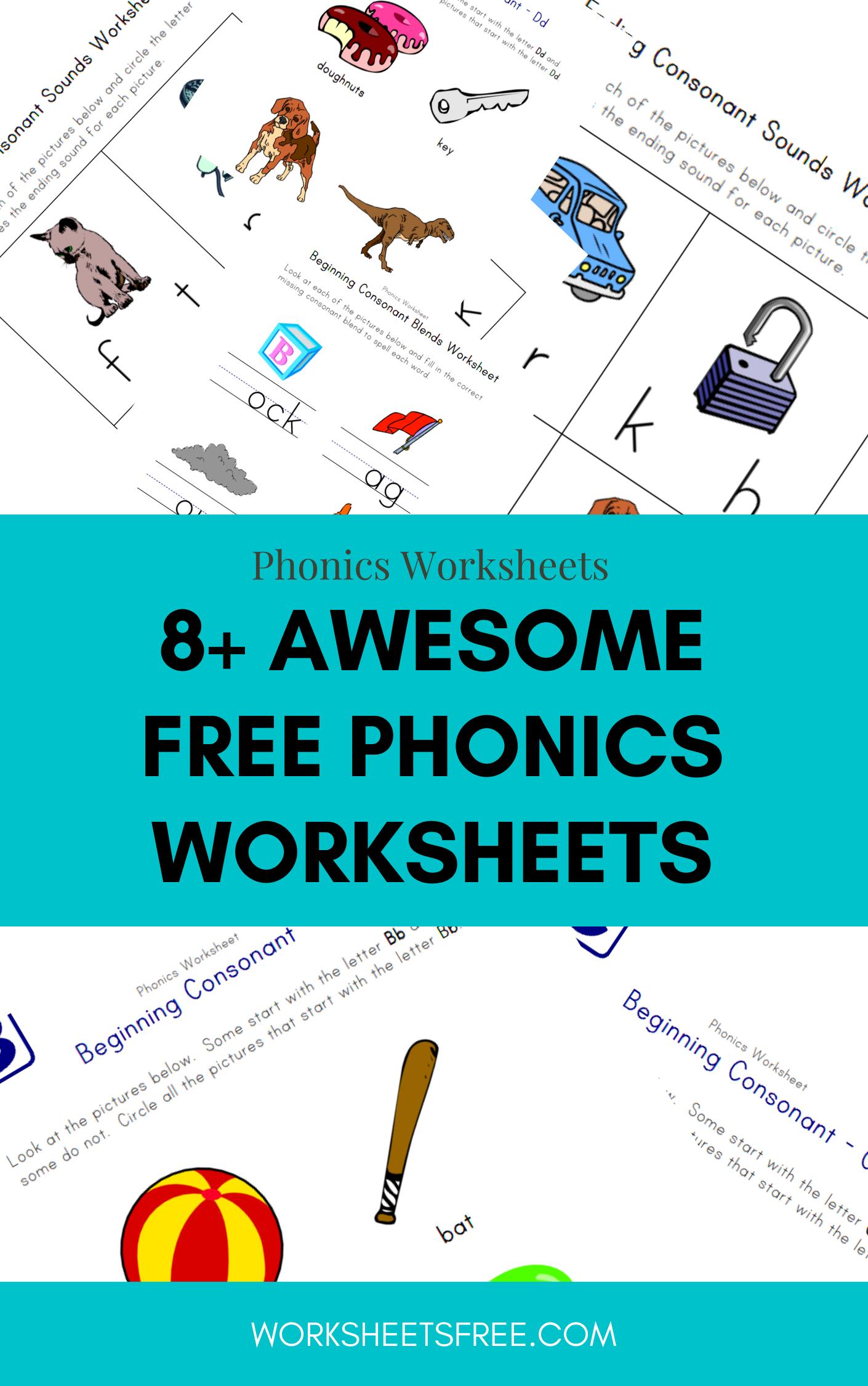 8 Awesome Free Phonics Worksheets 8 Awesome Free Phonics Worksheets Phonics Worksheets Free Phonics Free Phonics Worksheets [ 2250 x 1410 Pixel ]