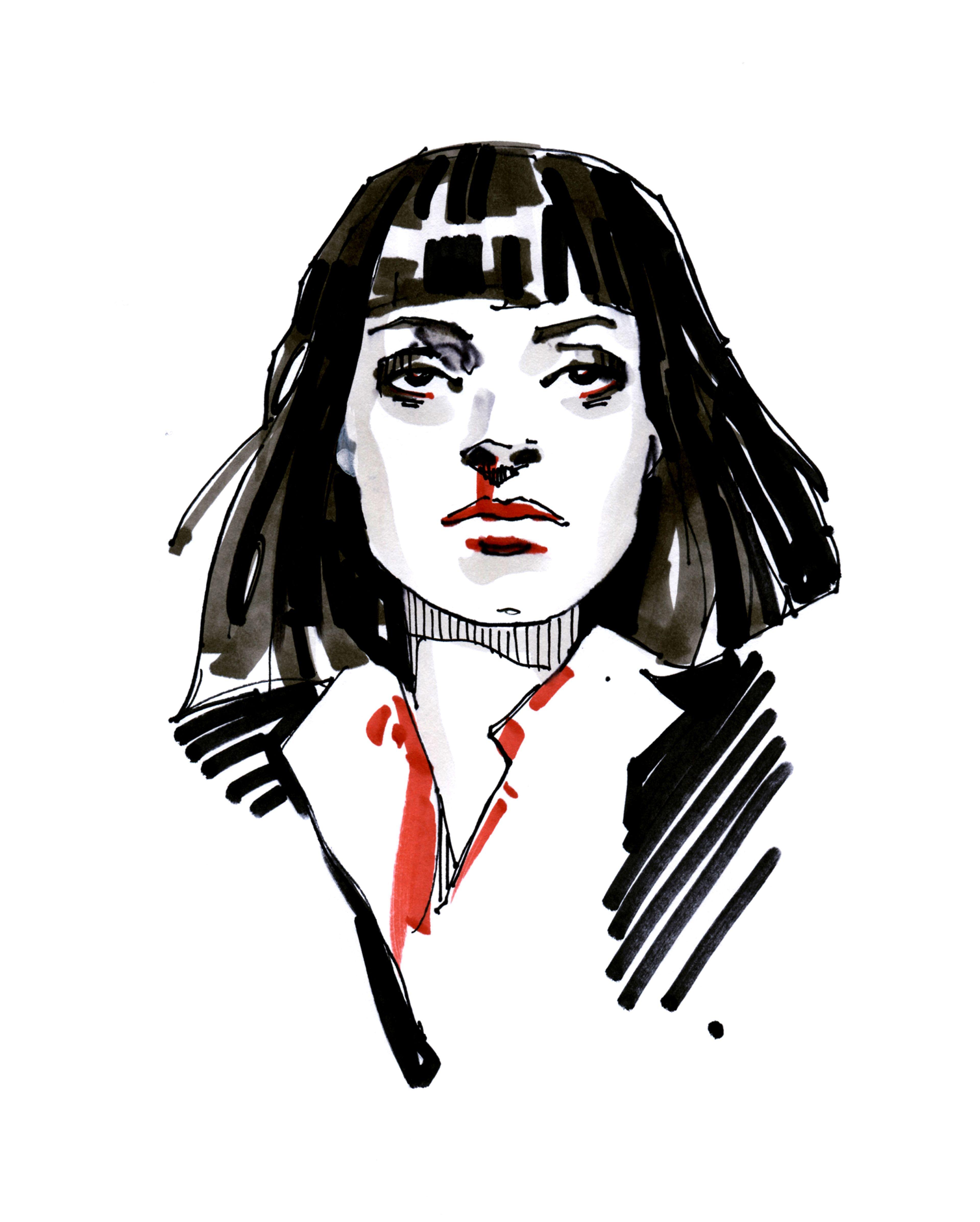 Seriya Portretov Po Motivam Filma Kriminalnoe Chtivo Kriminalnoe Chtivo Kventin Tarantino Illyustracii Art
