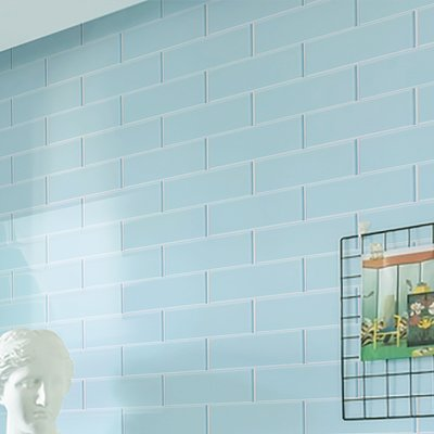 Susanjablon Bijou 22 2 X 2 Glass Mosaic Tile In Burnt Yellow Wayfair Blue Subway Tile Glass Subway Tile Subway Tile Colors