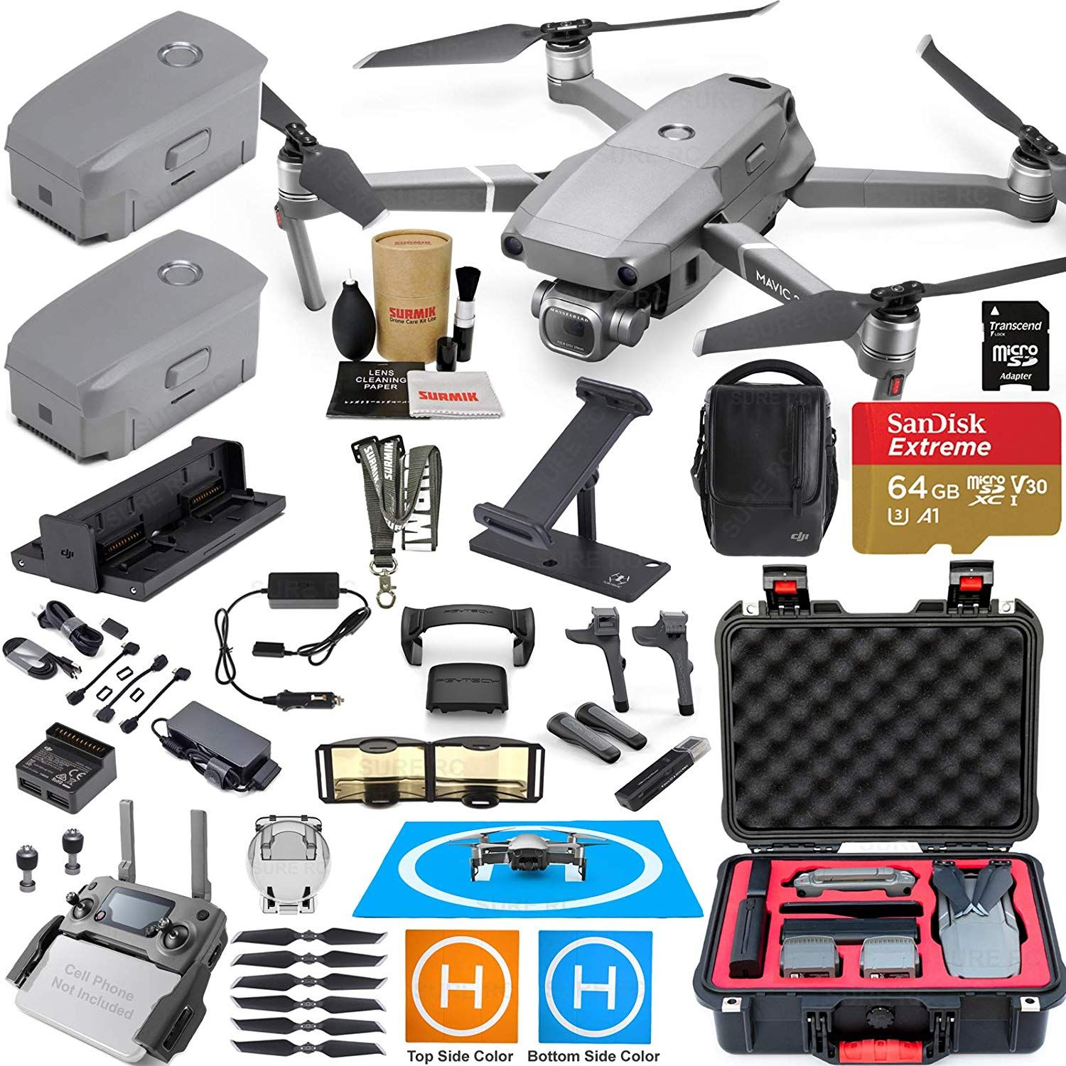 b6b41f42fc2 DJI Mavic 2 Pro Drone Quadcopter and Fly More Kit Combo with 3 Batteries,  Hasselblad Camera Gimbal Bundle with Must Have Accessories.