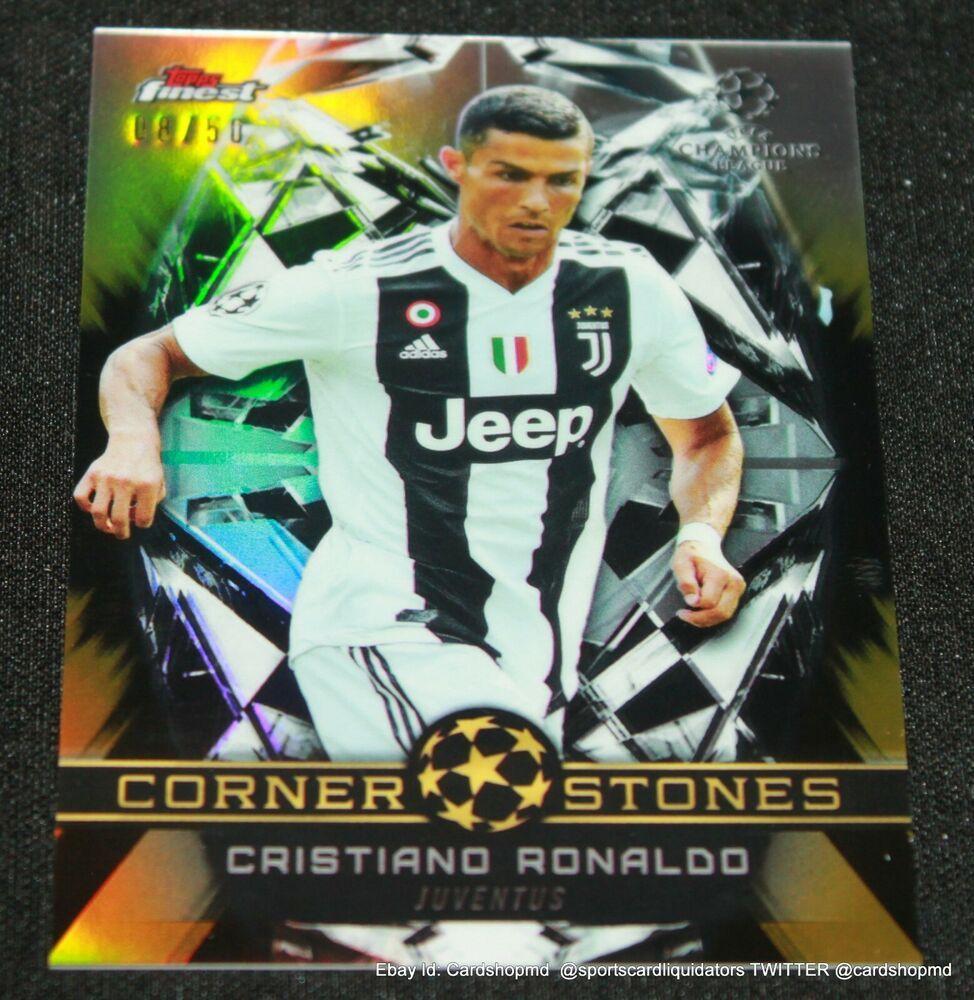Cristiano Ronaldo Gold Refractor 2019 Topps Finest Corner Stones 8 50 Juventus Juventusfc In 2020 Cristiano Ronaldo Cristiano Ronaldo Juventus Ronaldo Juventus