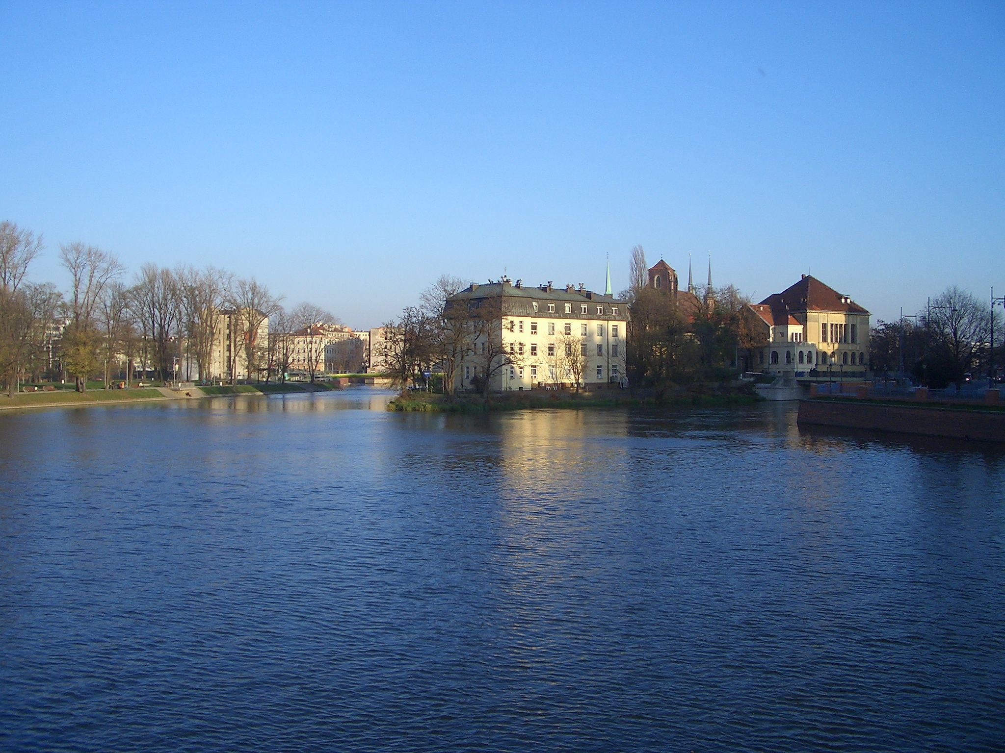 Beautiful Odra river in Wroclaw