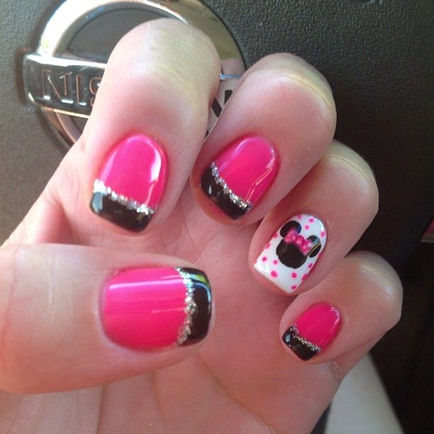minnie mouse nails | Nails | Pinterest | Uñas lindas, Diseños de ...