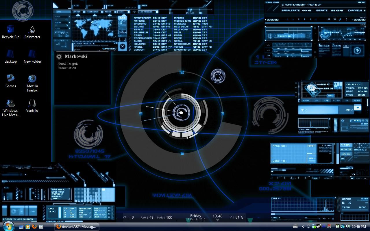 RAINMETER UNTUK DESKTOP WINDOWS 7 BLOG EROOL | DIY and
