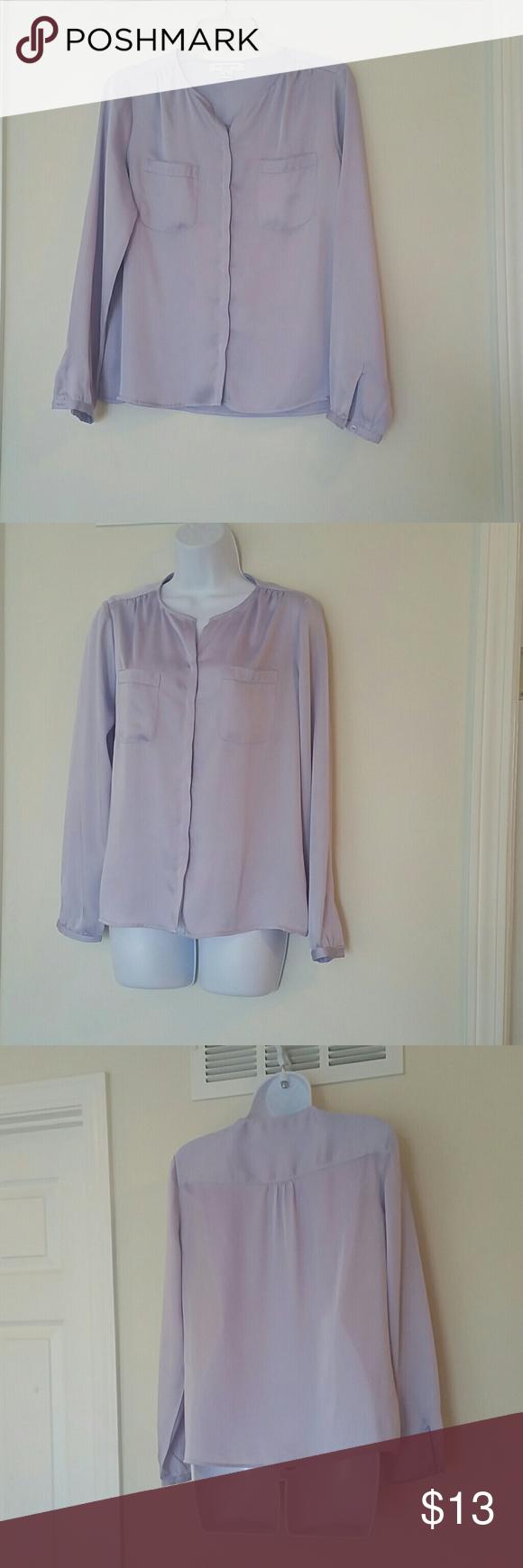 Liz Claiborne petite lavender blouse Liz Claiborne petite lavender blouse.  100% Polyester Liz Claiborne Tops Blouses