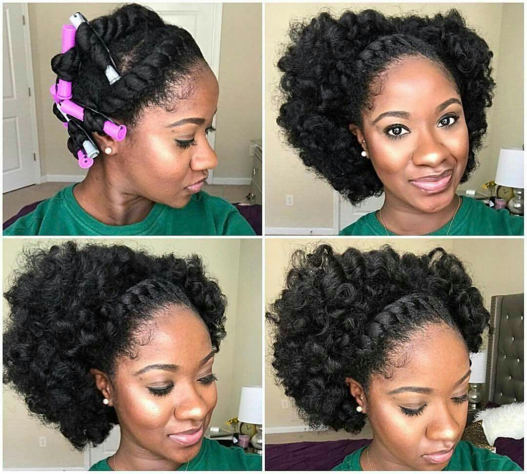 Front Flat Twist W Chunky Twist Out Natural Hair Styles
