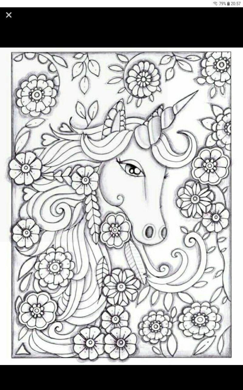 Pin Von Lorena Provenzano Auf Coloriage Malvorlage Einhorn Malvorlagen Blumen Kostenlose Erwachsenen Malvorlagen