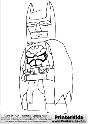 Lego Batman  Lego Batman and Robin Xbox game  Coloring Page  Oh