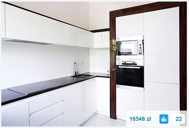 Jezeli Podoba Ci Sie Ta Kuchnia Wejdz Do Naszego Kalkulatora I Sprawdz Ile Podobna Kuchnia White Modern Kitchen Modern White Kitchen Cabinets Kitchen Interior