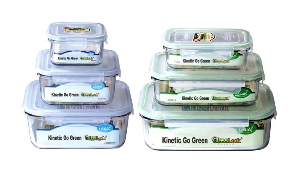 12 Pc FreezertoMicrowave Tempered Glass Food Storage