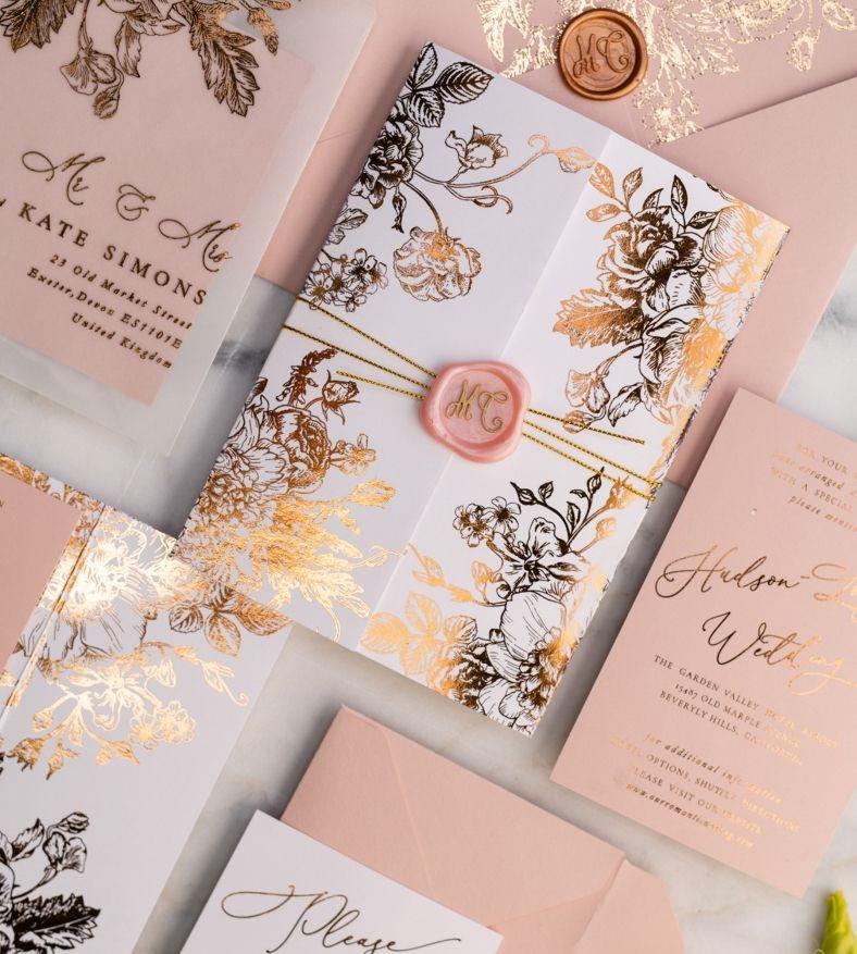 Wedding Invitations Gold Rose Gold Silver Glitter 3 Frameg Z Rose Gold Wedding Invitations Affordable Wedding Invitations Gold Wedding Invitations