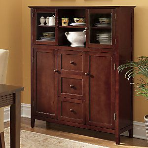 "Montgomery Ward Showcase Storage Cabinet from Through the Country Door® | C8452475 Assembly required. 46"" w x 54"" h x 12 1/2"" d. $240"