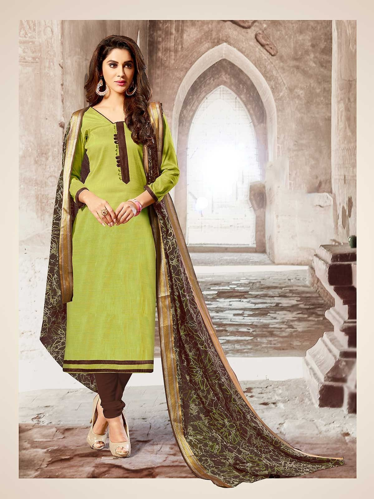 6344761ddd Buy green color cotton salwar suit, ladies shalwar kameez collection with  latest designs online for women from our online shopping store.