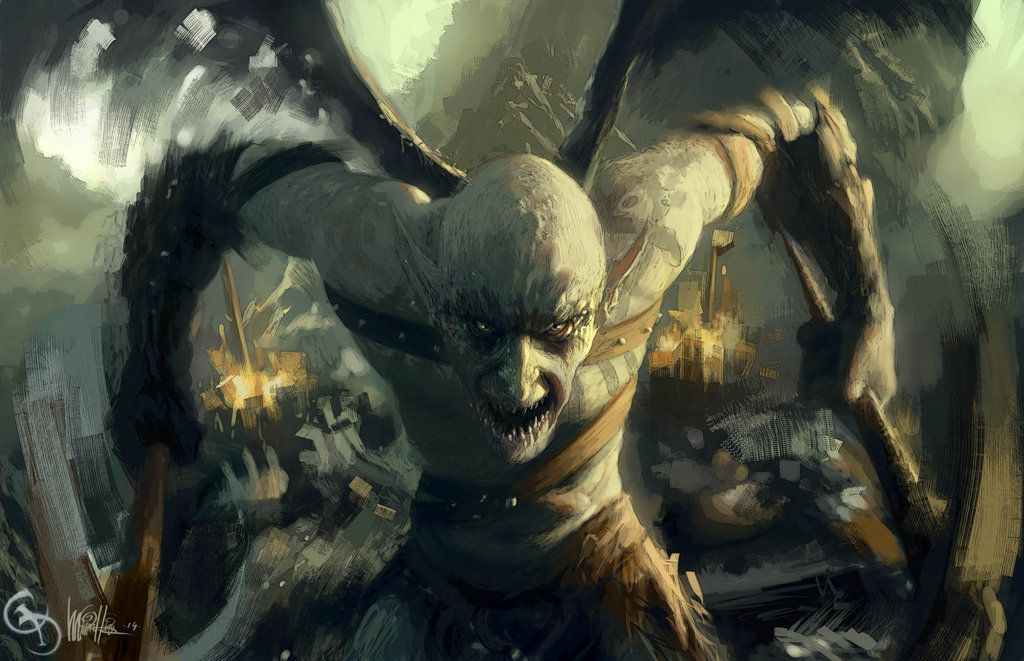Gargoyle Warrior by mickehill.deviantart.com on ...