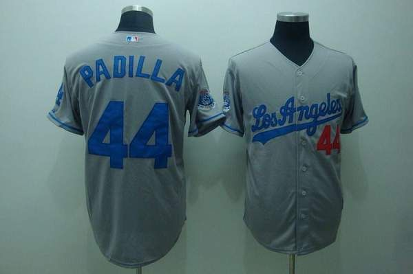 dodgers 44 vicente padilla embroidered grey mlb jersey only 18.50usd