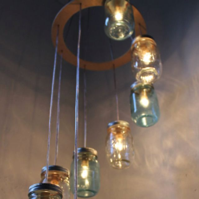Mason jar. Chandelier- This will be made! Perfect for if and when I move to philly