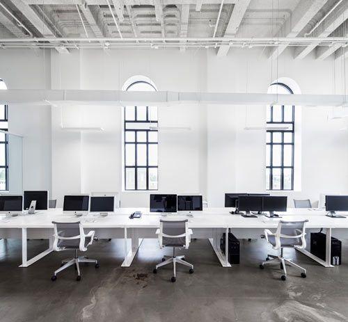 Blue communications modern white office 8 design milk
