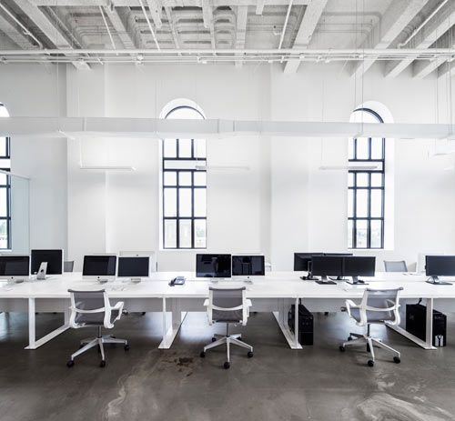 Blue Communications Modern White Office 8 Blue Office Decor