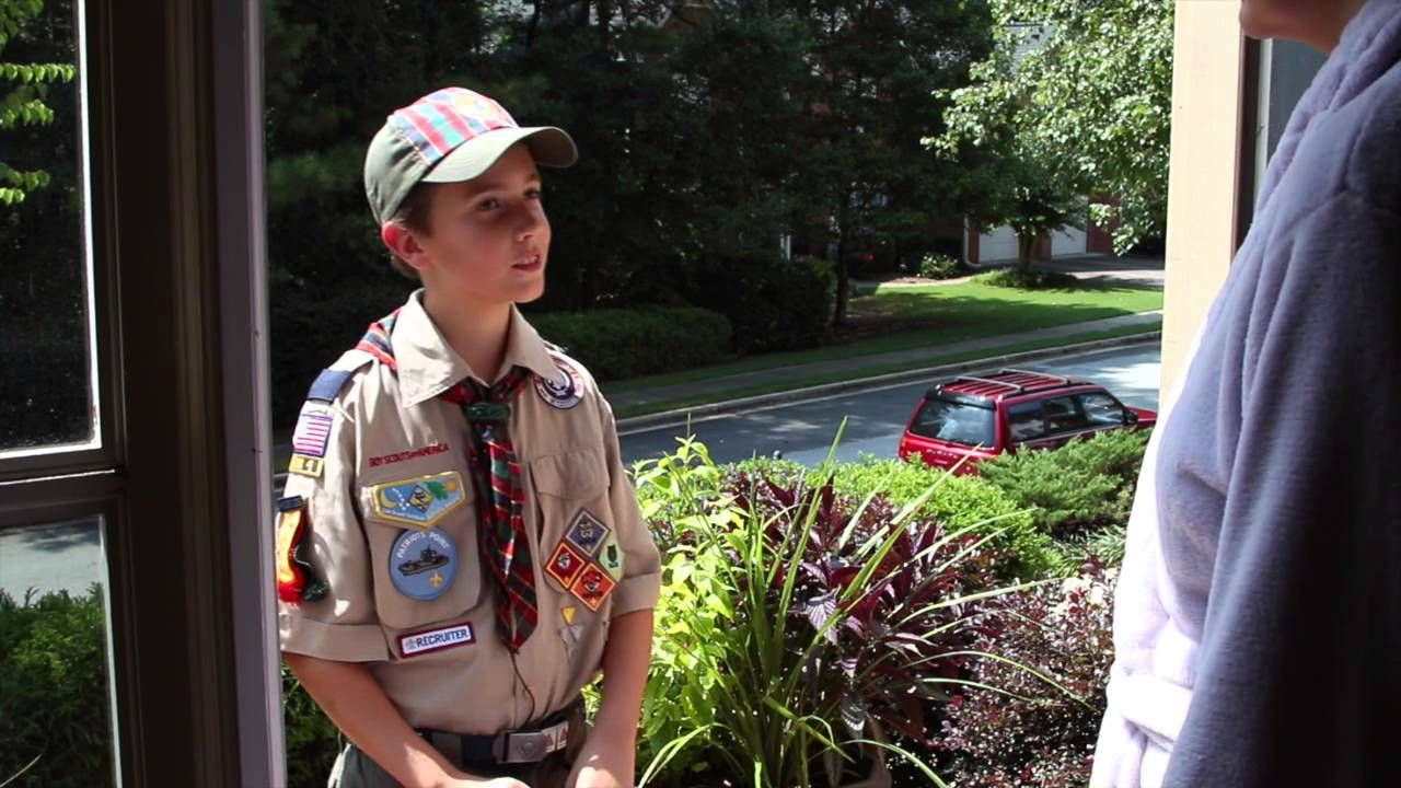 What do Boy Scouts raise money for when they sell popcorn?