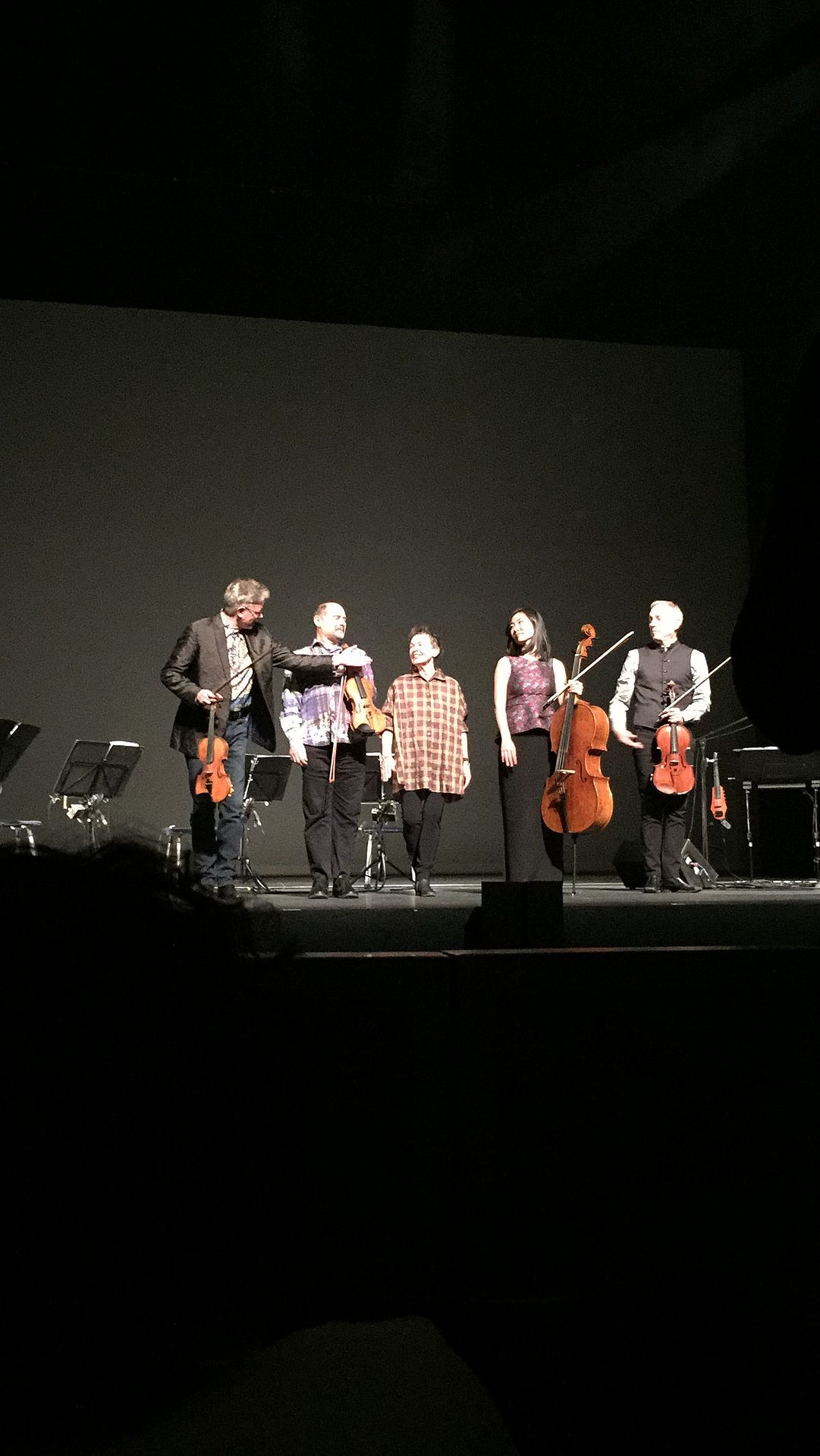 Laurie Anderson In 2015 with Kronos Quartet, after