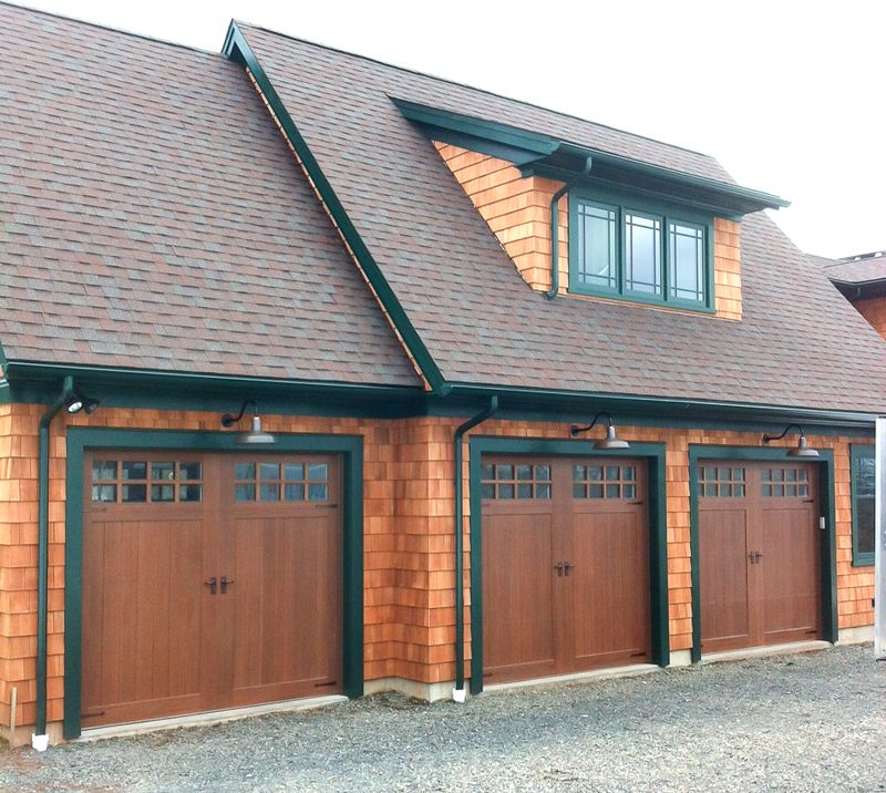 Clopay canyon ridge limited edition series faux wood for Clopay wood garage doors