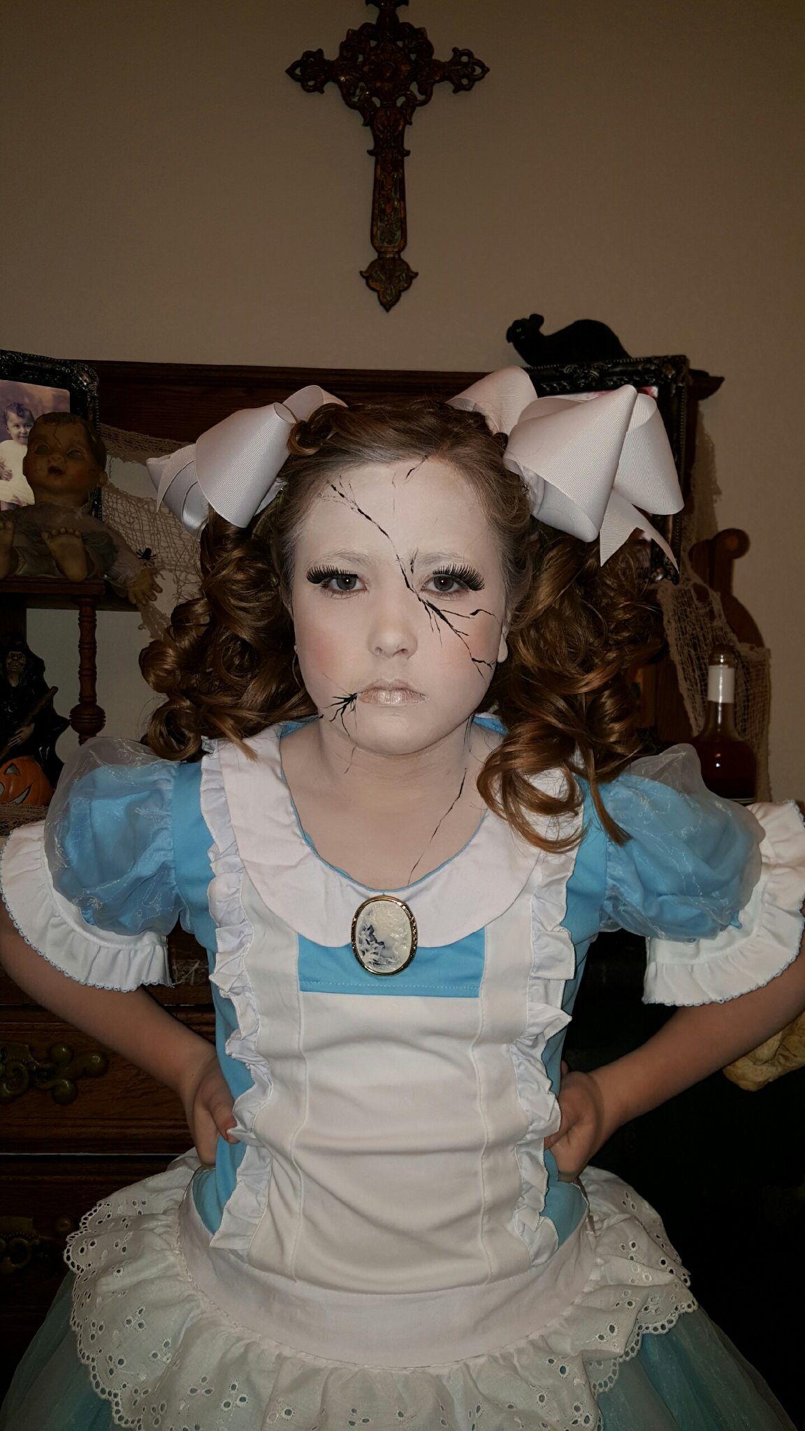 broken porcelain doll halloween costume halloween halloween puppe halloween kost m. Black Bedroom Furniture Sets. Home Design Ideas