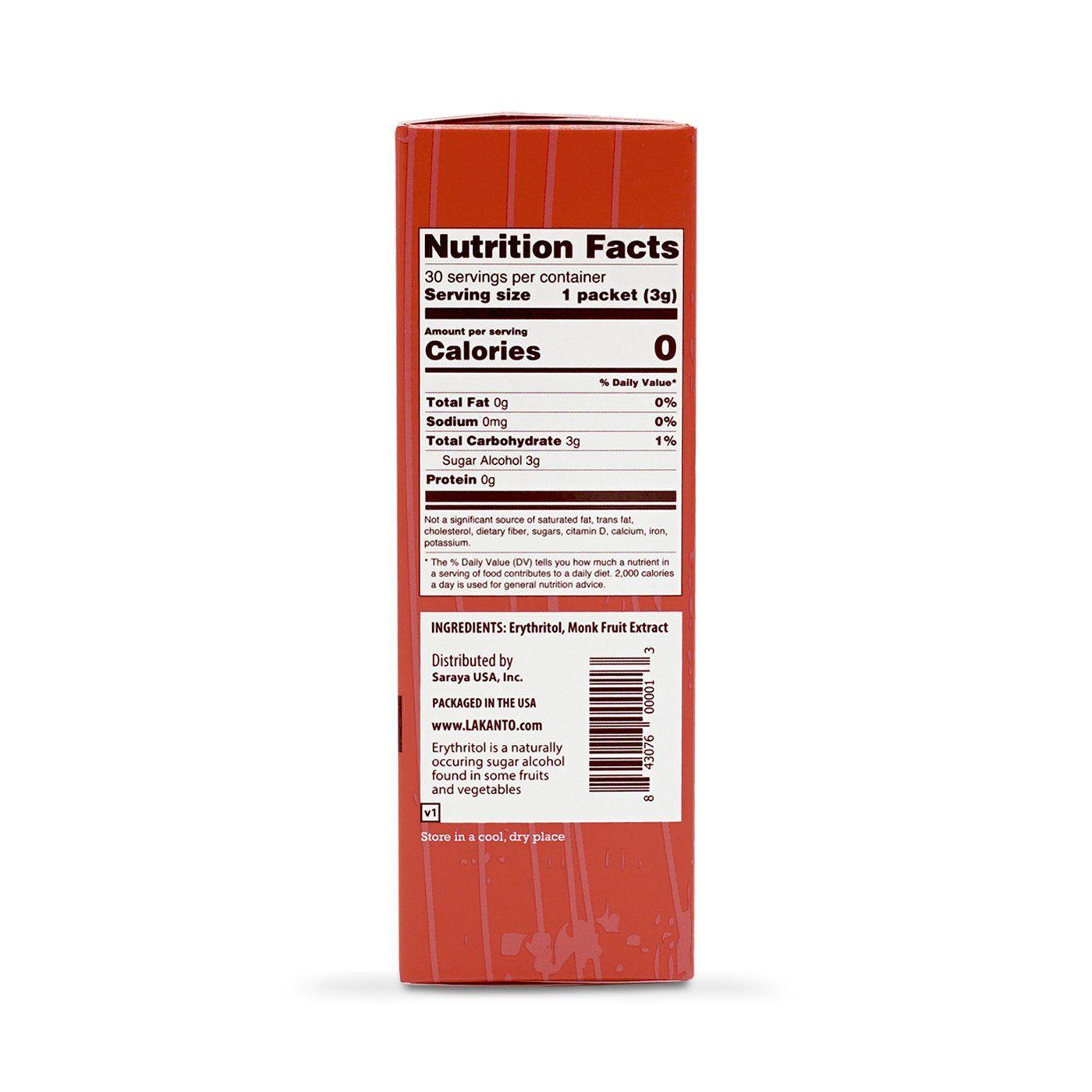 Golden Monkfruit 2 1 Sweetener Packets Lakanto Fruit Sugar Free Treats