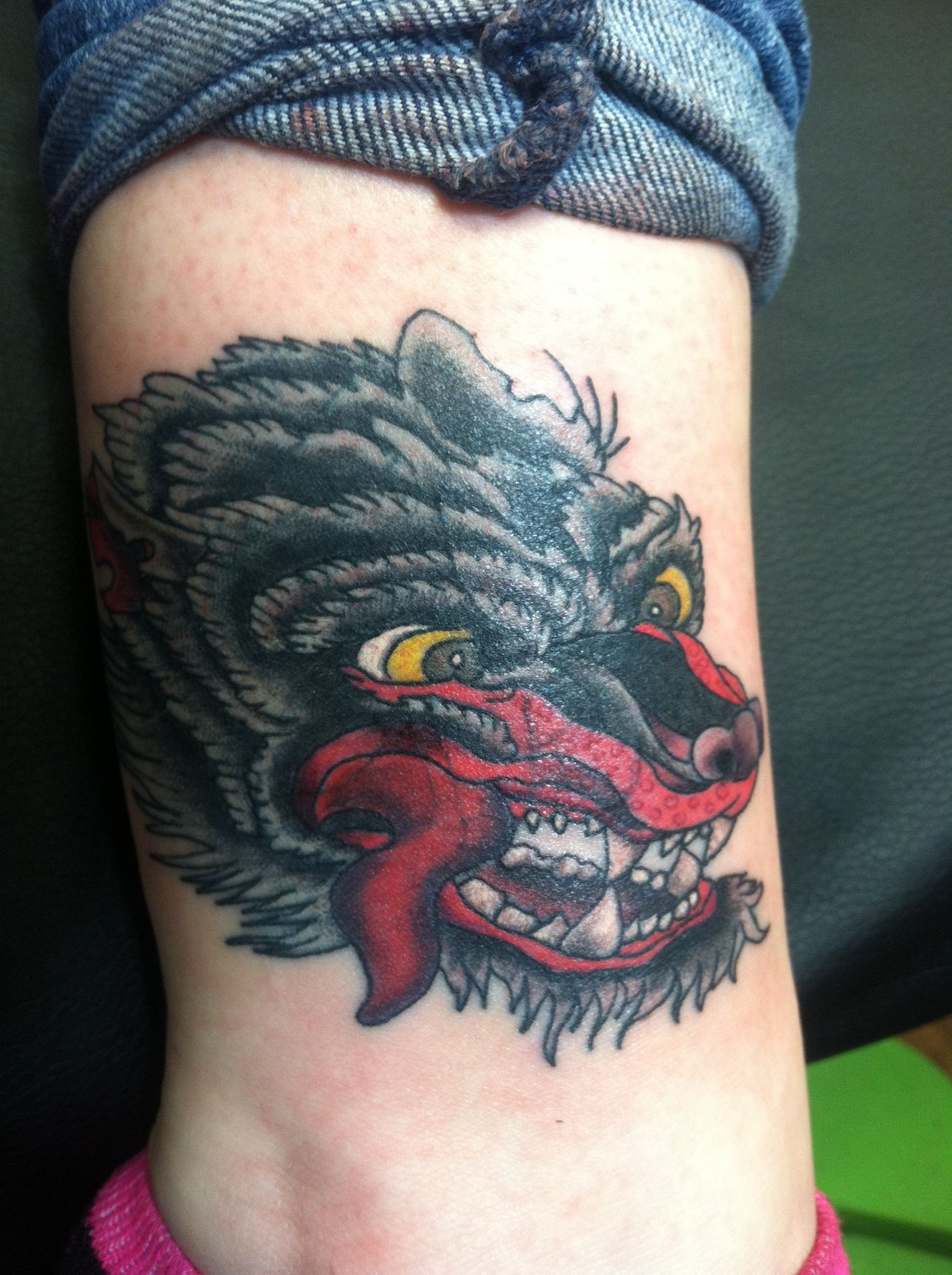 My Very First Tattoo Japanese Wolf Ankle